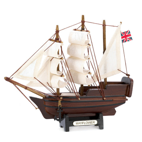 Accent Plus 10014750 Mini Mayflower Sailling Ship Model Wood and Cotton Statue Collectors-Visiocology