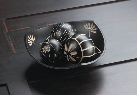 Visiocology.com : Accent Plus Artisan Tri-point Bowl Decorative Balls Table Centerpieces