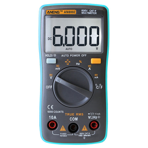 Visiocology : ANENG AN8002 Digital Ture RMS 6000 Counts Multimeter AC/DC Current Voltage Frequency Resistance Temperature Tester ℃/℉