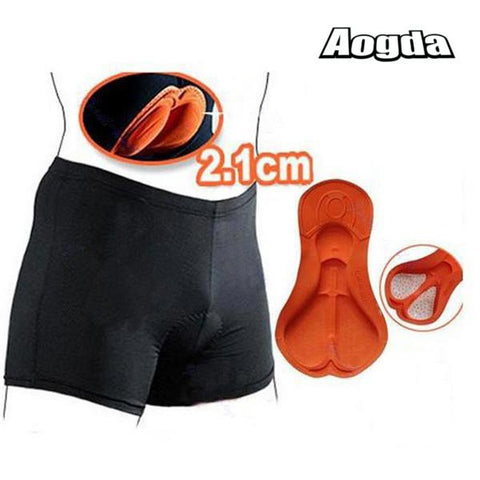 Aogda Unisex Black Cycling Comfortable Underwear Sponge Padded Bike Short Pants Cycling Shorts-Visiocology