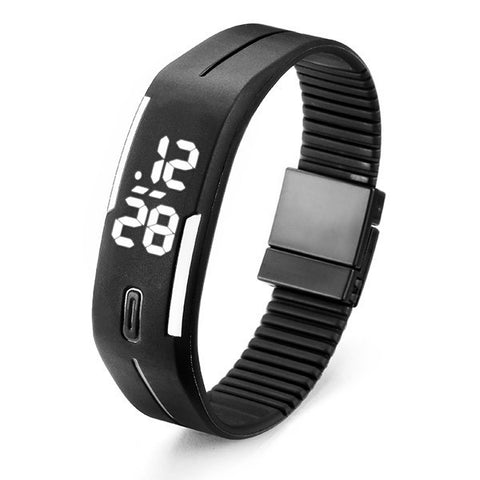 B4A Unisex Casual LED Rectangle Sport Digital Bracelet Watch-Visiocology