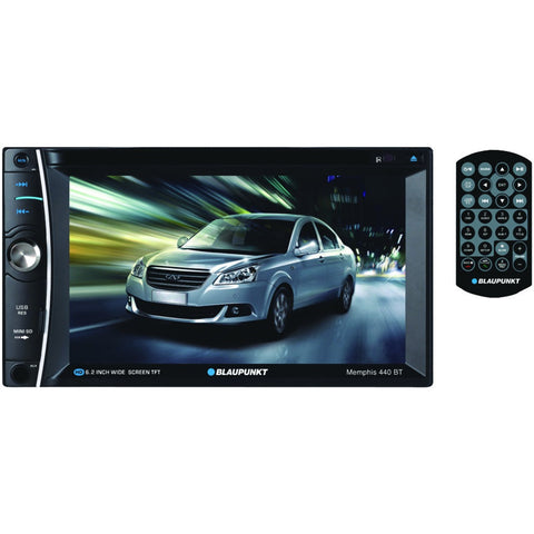 "Blaupunkt ~ BLAMMP440BT Memphis 440 Bt 6.2"" Double-din In-dash Dvd Receiver With Bluetooth-Visiocology"