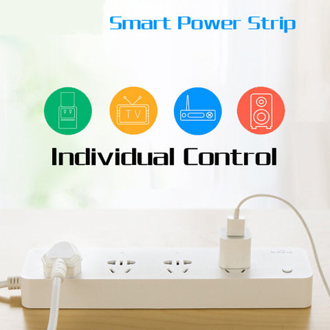 Broadlink MP1 Smart Home Wifi Timer Plug Power Strip 4 Ports Individual Wireless Remote Control-Visiocology