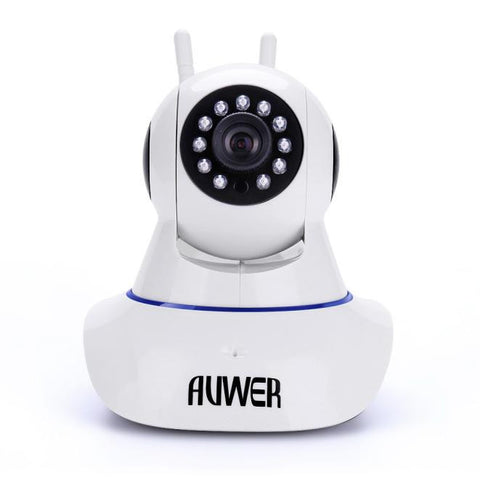 Buy Professional Camera by Auwer 1.0MP 2 Way Audio Chatting Baby Camera WiFi IP Security Pan Camera White-Visiocology