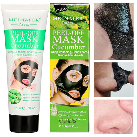 Visiocology : Cucumber Blackhead Removal Mask Deep Cleansing Mineral Facial Peel Off Oil Control Acne Treatment