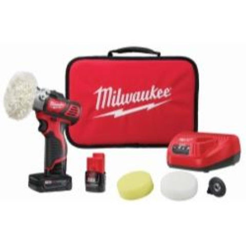 Milwaukee Electric Tools M12 Variable Speed Polisher/Sander With 5 Piece Accessory Kit - Visiocology