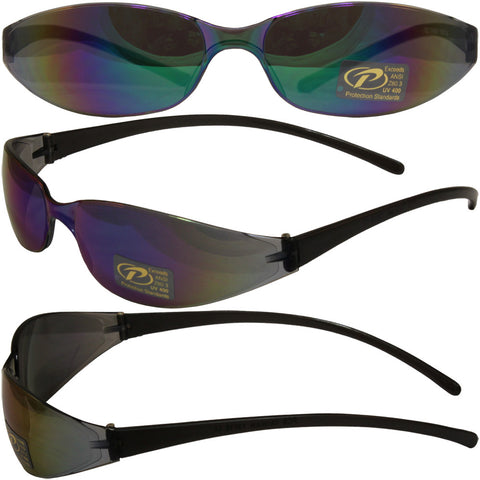 Skinny Joes with Color Mirror Lenses Slim Glasses