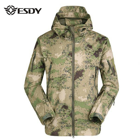 ESDY Men's Tactical Military Outdoor Jacket Waterproof Coat Softshell Outerwear - visiocology - california