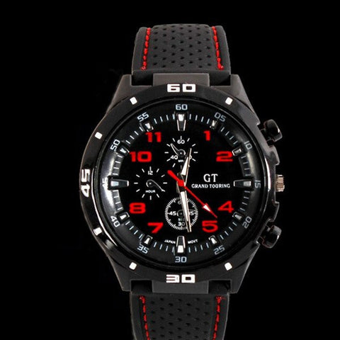 GT 54 GRAND TOURING Silicone Band Quartz Analog Sport Watch-Visiocology