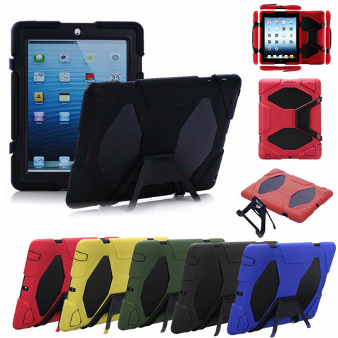 Heavy Duty Shockproof Hard Case Cover With Stand For Apple iPad 2 3 4-Visiocology