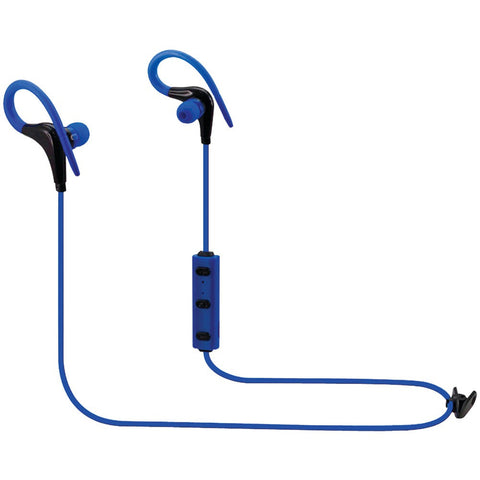 Ilive GPXIAEB06BU Bluetooth Headset Earbuds Headphones With Microphone (blue)-Visiocology