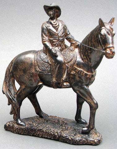 Bronze look Cowboy on Horse - Visiocology