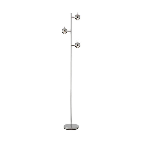 Dainolite 3 Light Floor Lamp with Polished Chrome Finish