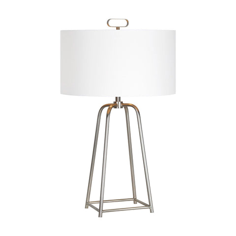 Ren-Wil Bodice Table Lamp Satin nickel Medium - Visiocology