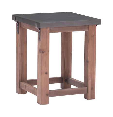 Greenpoint Side Table Gray & Distressed Fir - Visiocology