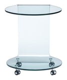 Mission Side Table Clear Glass - Visiocology