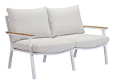 Maya Beach Sofa Gray, Natural & White - Visiocology