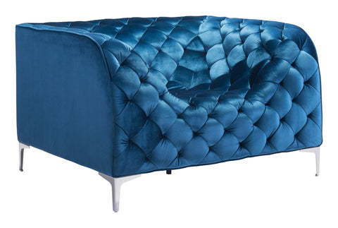 Providence Arm Chair Blue Velvet - Visiocology