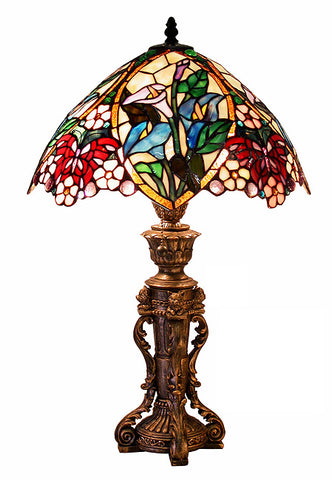 Tiffany Style Floral Design Table Lamp