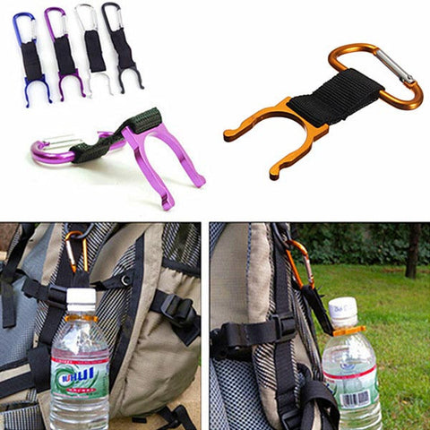 IPRee Camping Hiking Water Bottle Carabiner Buckle D Shape Strap Keychain Holder - Visiocology