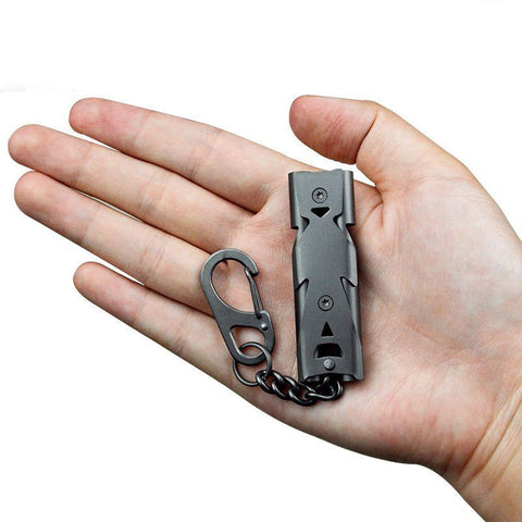Visiocology : IPRee Outdoor Double Tube 150db Whistle Camping Survival Stainless Steel Apito Sounder