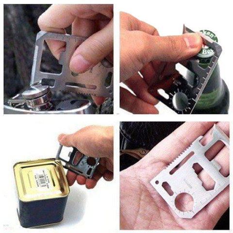 IPRee Outdoor Tactical Mini Knife Card Life-saving Multifunctional Tool Card Survival - Visiocology