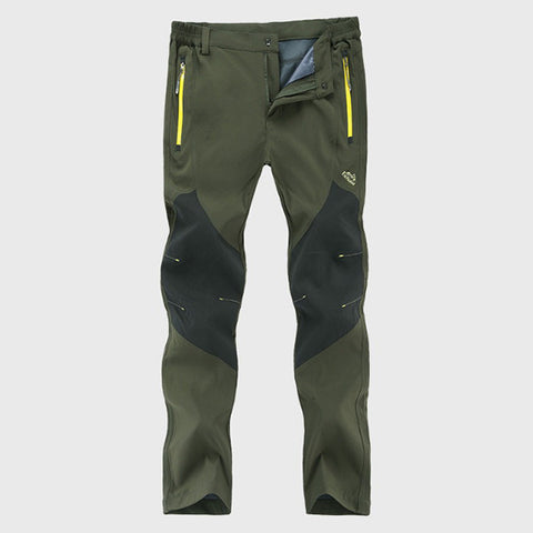 Mens Outdoor Waterproof Sport Pants Breathable Quick-drying Hiking Pants-Visiocology