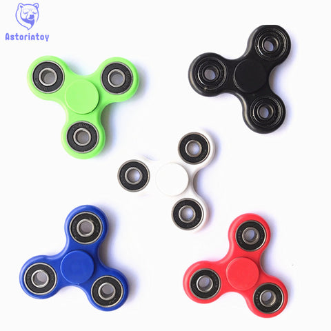 new 6 colour Luminous effect  Tri-Spinner Fidget Toy Plastic EDC Hand Spinner For Autism  Reliever Spiral Gifts Toys For Child - Visiocology