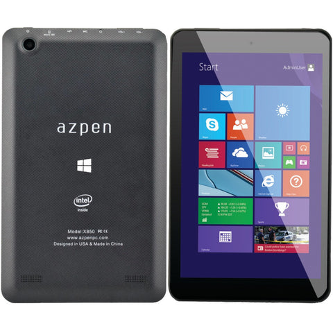 "New AZPEN X850 8"" X850 HD Quad Core Tablet Windows 8.1-Visiocology"