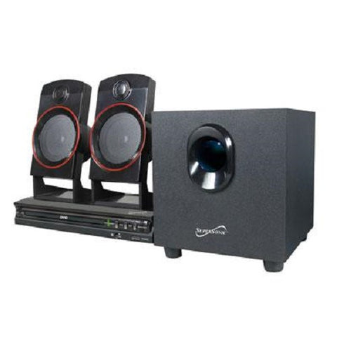 New Supersonic 2.1CH Home Theater Surround Sound System CD/DVD/PM3 Player-Visiocology