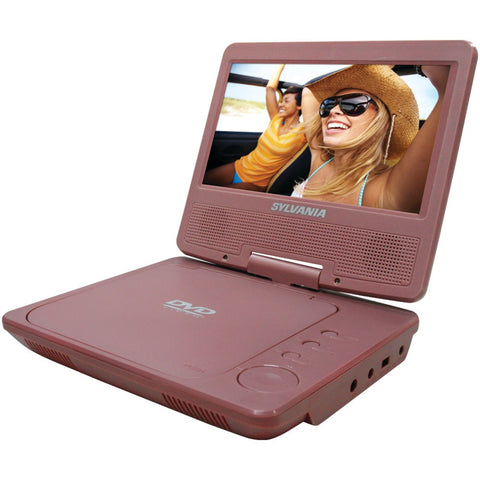 "New Sylvania 7"" Portable Dvd Player (pink)-Visiocology"