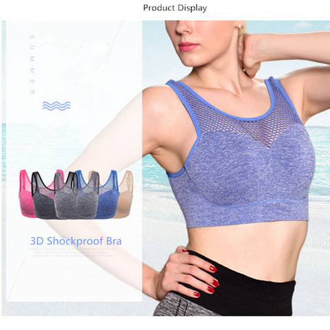 No Rims 3D Shockproof Sport Bras Sleeping Breathable Yoga Fitness Top For Women-Visiocology