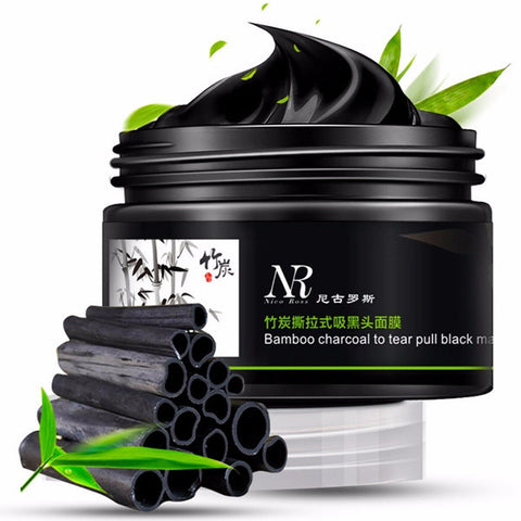 NR Tearing Type Removing Blackhead Mask Bamboo Charcoal To Tear Pull Black Mask - Visiocology