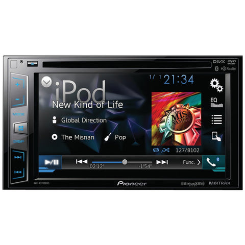 "PIONEER AVH-X3700BHS 6.2"""" Double-DIN DVD Receiver with Bluetooth(R), Siri(R) Eyes Free, SiriusXM(R) Ready, HD Radio(TM), Android(TM) Music Support, Pandora(R) Internet Radio & Dual Camera Inputs - Visiocology"