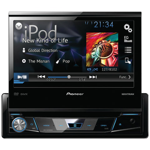 "PIONEER AVH-X6700DVD 7"""" Single-DIN DVD Receiver with Flip-out Display, Android(TM) Music Support & Pandora(R) Internet Radio - Visiocology"