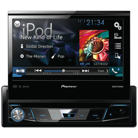 "PIONEER AVH-X7700BT 7"""" Single-DIN DVD Receiver with Flip-out Display, Bluetooth(R), Siri(R) Eyes Free, Android(TM) Music Support & Pandora(R) Internet Radio - Visiocology"