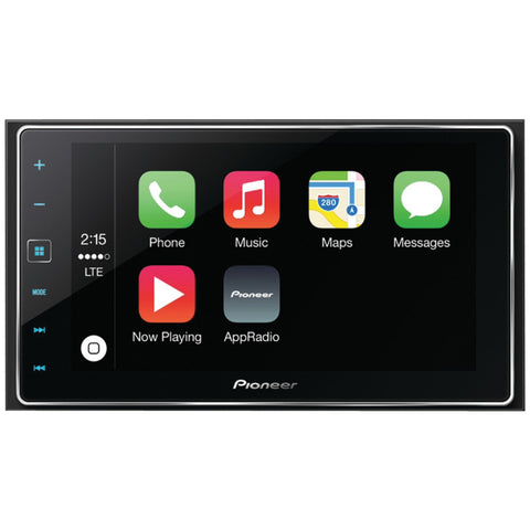 "PIONEER SPH-DA120 6.2"""" Double-DIN In-Dash AppRadio(R) 4 Receiver with Capacitive Touchscreen, Apple CarPlay(TM), Bluetooth(R), Siri(R) Eyes Free, Android(TM) Music Support, Pandora(R) Internet Radio & FLAC Audio-Visiocology"