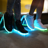 Merkmak Big Size 35-46 USB LED Light Shoes Men 7 Colors Glowing Fashion Led Shoes Lumineuse Shoes - visiocology - chicago