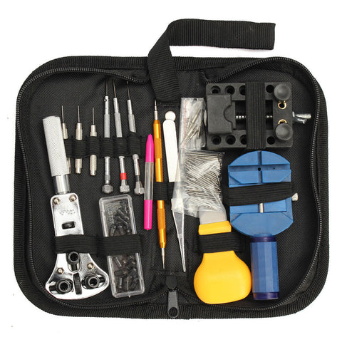 144 PcsDetails about Watch Repair tool Kit Back Case Holder Opener Pin Link Re