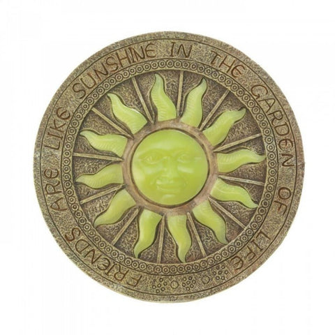 Summerfield Terrace Home Garden Polyresin Bursting Sun Glowing Stepping Stone Decor - Visiocology