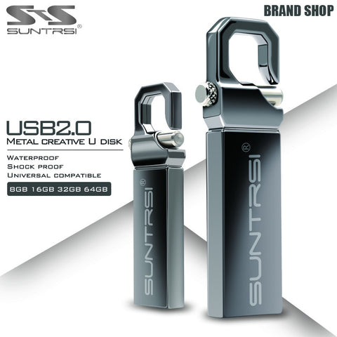 Suntrsi USB Flash Drive 64GB Metal Pendrive High Speed USB Stick 32GB Pen Drive Real Capacity 16GB USB Flash Free Shipping-Visiocology