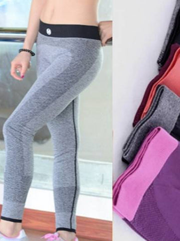 Sweat-absorbent Women Workout Elastic Sportwear Running Trousers Yoga Ninth Fitness Pants Leggings-Visiocology