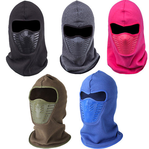 Thermal Fleece Men Women Winter Neck Face Mask Unisex CS Hat Ski Hood Helmet Caps - Visiocology