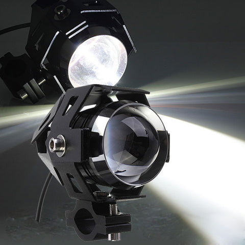 U5 Motorcycle LED Headlight Waterproof High Power Spot Light-Visiocology