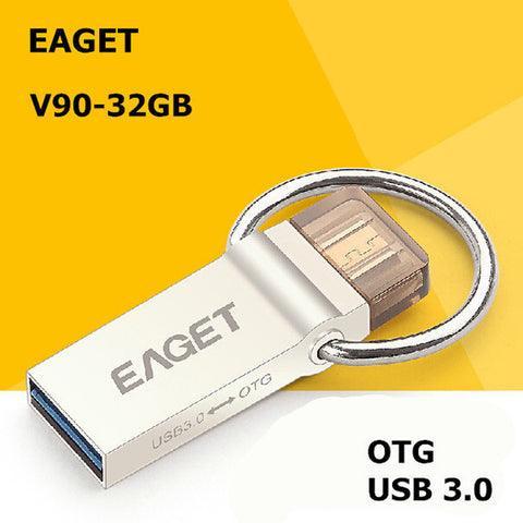 Ultra Mini EAGET V90 USB Flash Drive USB 3.0 OTG Smartphone Pen Drive Thumb Drive-Visiocology