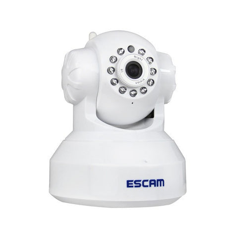 Visiocology : ESCAM QF001 720P IR Night Vision IR-Cut 1.0 Mrga WiFi IP Camera Pan Tilt Security Camera Support 32G TF Card-Visiocology