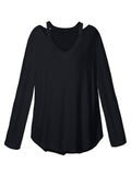 Zanzea Casual Long Sleeve V neck Off Shoulder Women T shirts Tee Top-Visiocology - 0