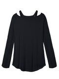 Zanzea Casual Long Sleeve V neck Off Shoulder Women T shirts Tee Top - Visiocology