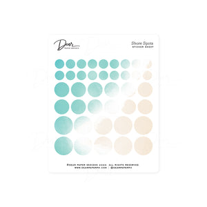 Shore Spots Sticker Sheet