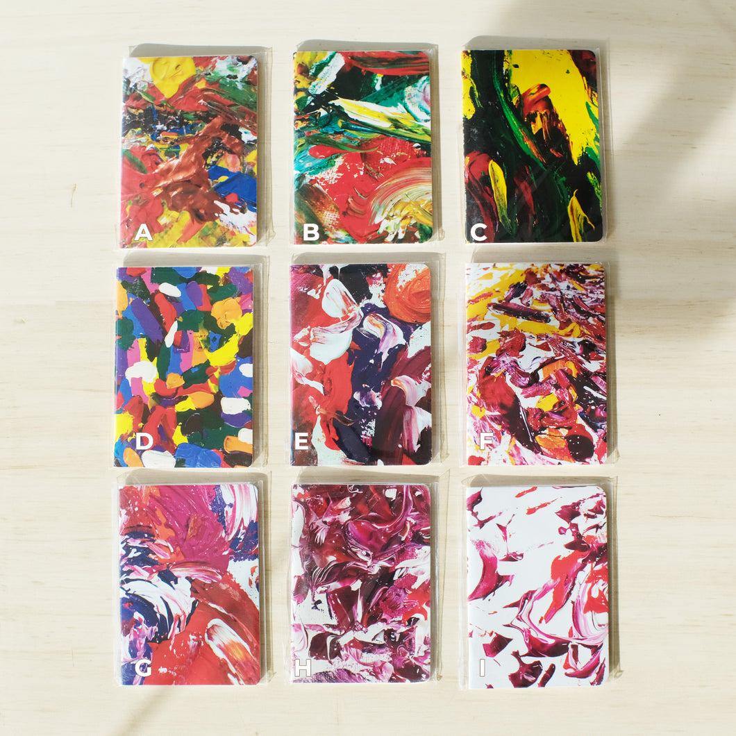 Abstract Pocket Notebook (A6)